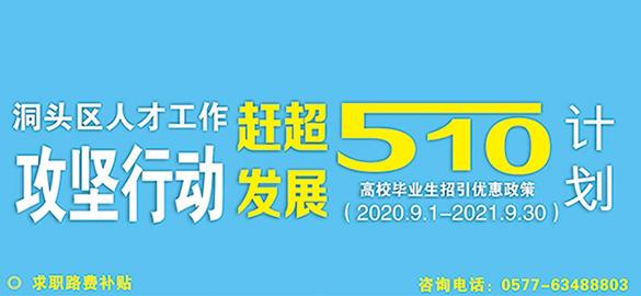 """""""510计划""""高校毕业生优惠政策"""